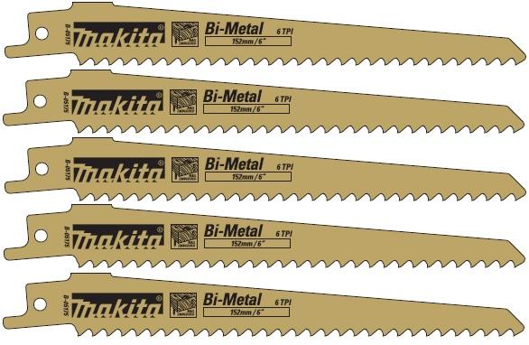 B-05175 - Makita Pilový plátek pro pily ocasky na dřevo, 130 mm, 5 ks