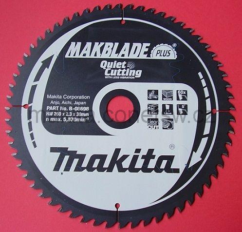B-08698 - Makita Pilový kotouč MAKBLADE PLUS 260 x 2,3 x 30 mm, 60 zubů, dřevo