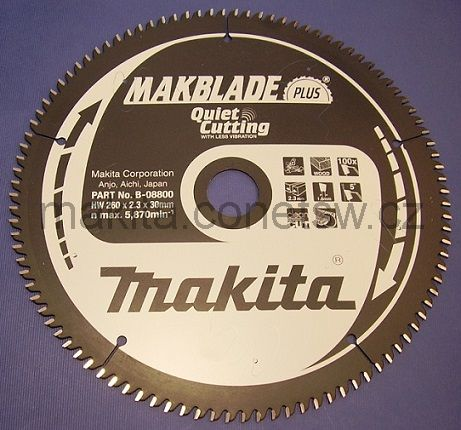 B-08800 - Makita Pilový kotouč MAKBLADE Plus 260 x 2,3 x 30 mm, 100 zubů, dřevo