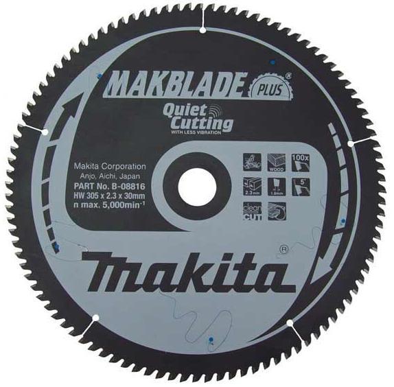 B-08816 - Makita Pilový kotouč MAKBLADE PLUS305 x 2,3 x 30 mm, 100 zubů, dřevo