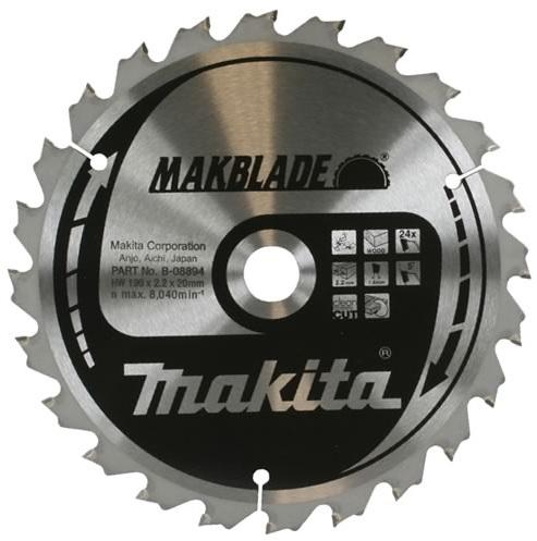 B-08894 - Makita Pilový kotouč MAKBLADE 190x2,2x20mm 24zubů, dřevo