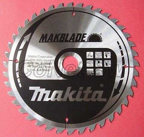 B-08981 - Makita Pilový kotouč MAKBLADE 260x2,3x30mm 40 zubů, dřevo (náhrada B-03545)