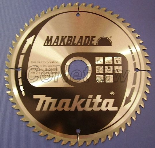B-09058 - Makita Pilový kotouč MAKBLADE 216 x 2 x 30 mm, 60 zubů