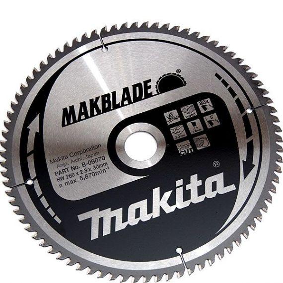 B-09070 - Makita Pilový kotouč MAKBLADE 260x2,3x30mm 80 zubů, dřevo (B-03551)