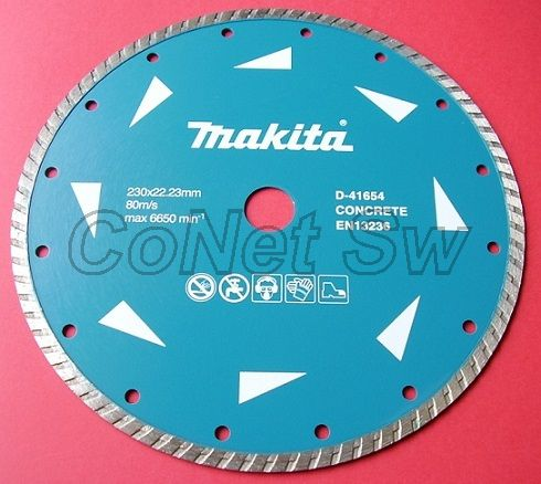 D-41654-10 - Makita Turbo diamantový kotouč 230 x 22,23mm 10ks