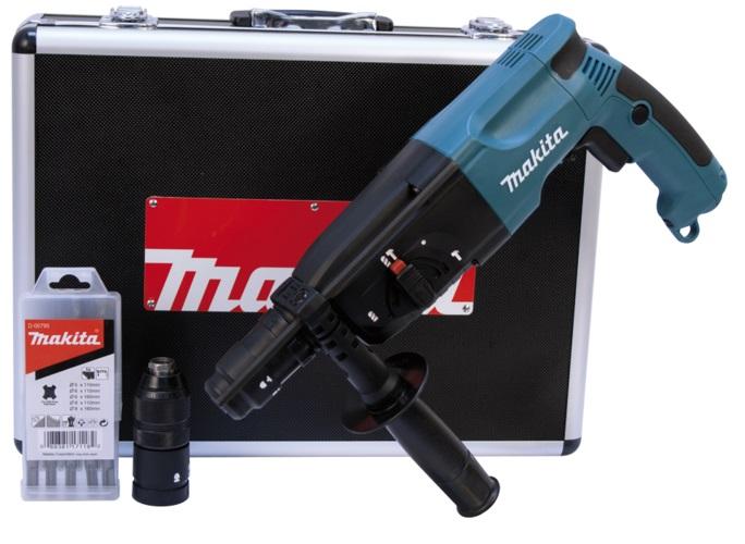 HR2450FTX - Makita Kladivo kombinované SDS-PLUS 2,3J, 780W s výměnným sklíčidlem