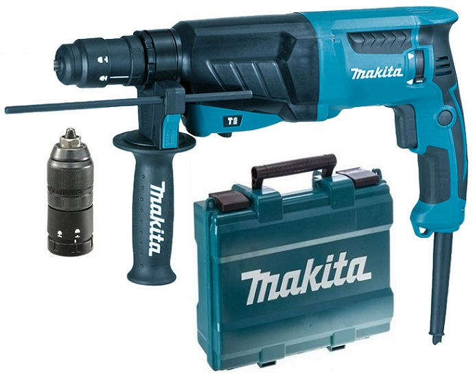 HR2630T - Makita Kladivo kombinované SDS-PLUS 2,4J, 800W, výměnné sklíčidlo