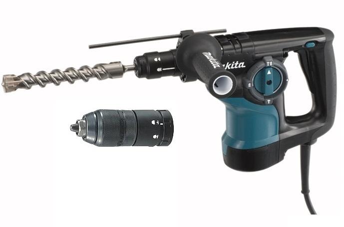 HR2810T - Makita Kladivo kombinované SDS-PLUS 2,9J, 800W, výměnné sklíčidlo