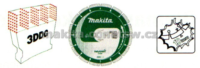 B-13655 - Makita diamantový kotouč Neutron 400/25,4 segment 10mm